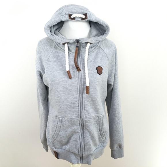 präsentieren schön in der Farbe beste Seite Naketano Brazzo Grey Melange Zip Up Hoodie Jacket